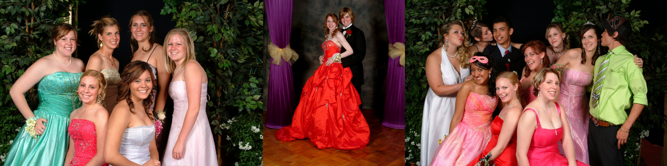 Photographs of prom night at high school