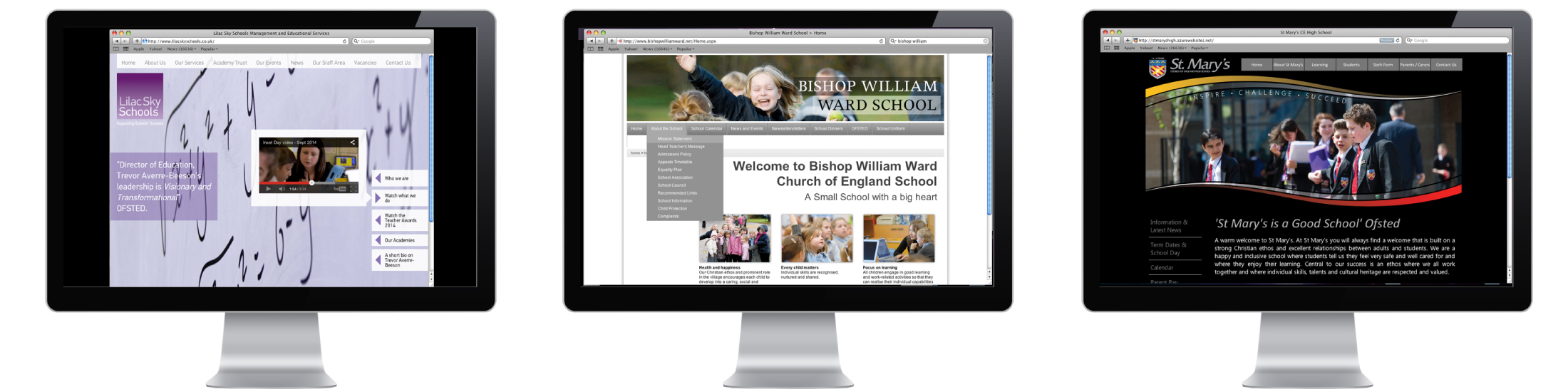 School websites designed and developed by Vancols