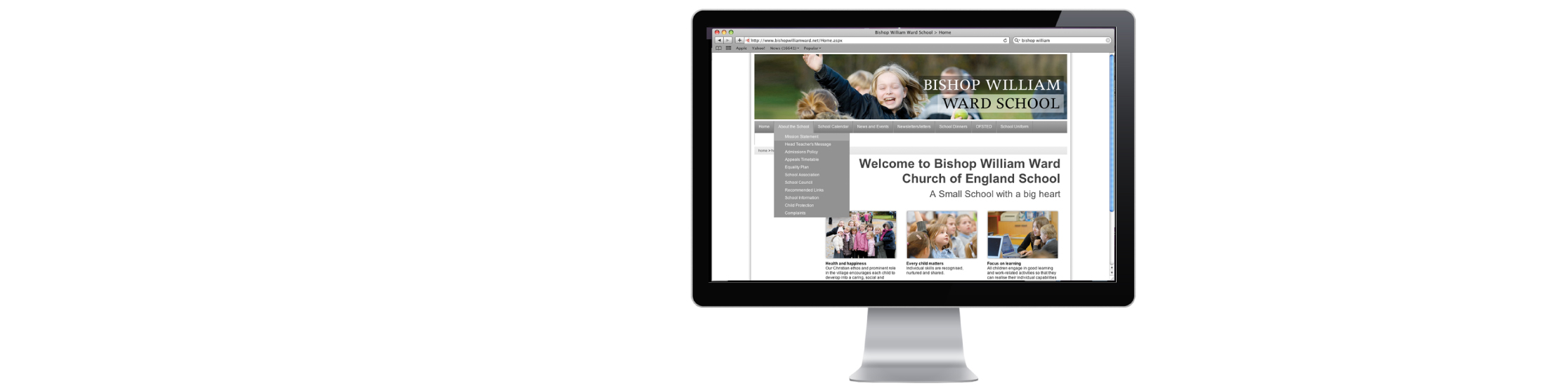 Bishop William Ward website designed and developed by Vancols