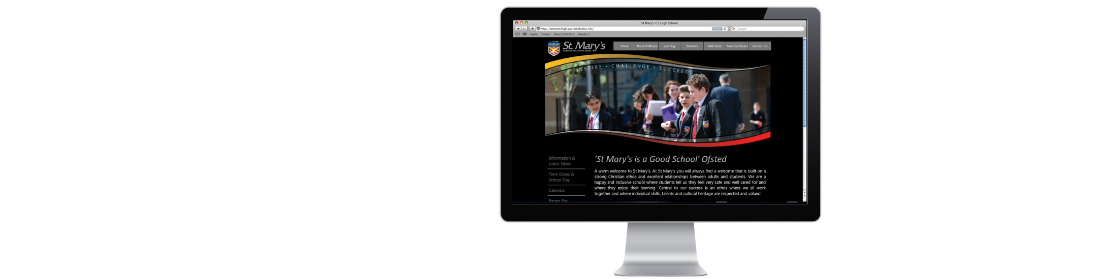St Mary's High School website designed and developed by Vancols