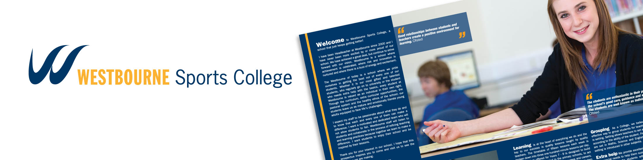 Westbourne Sports College corporate ID