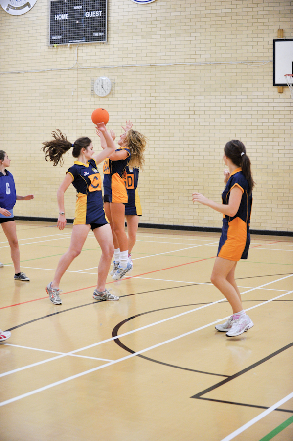 School netball team in action