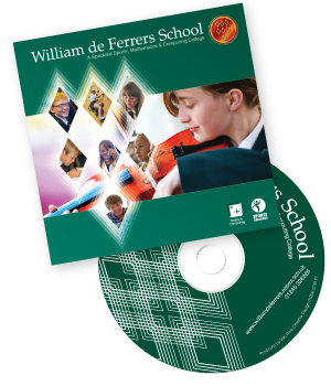 William de Ferrers School promotional DVD and case
