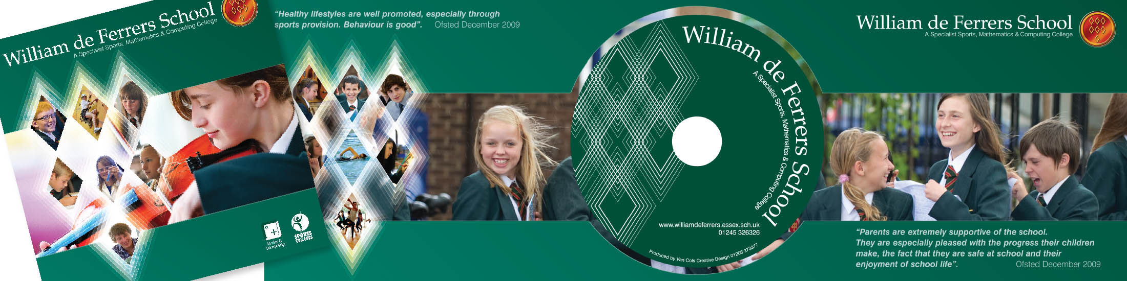 Promotional school DVD and case