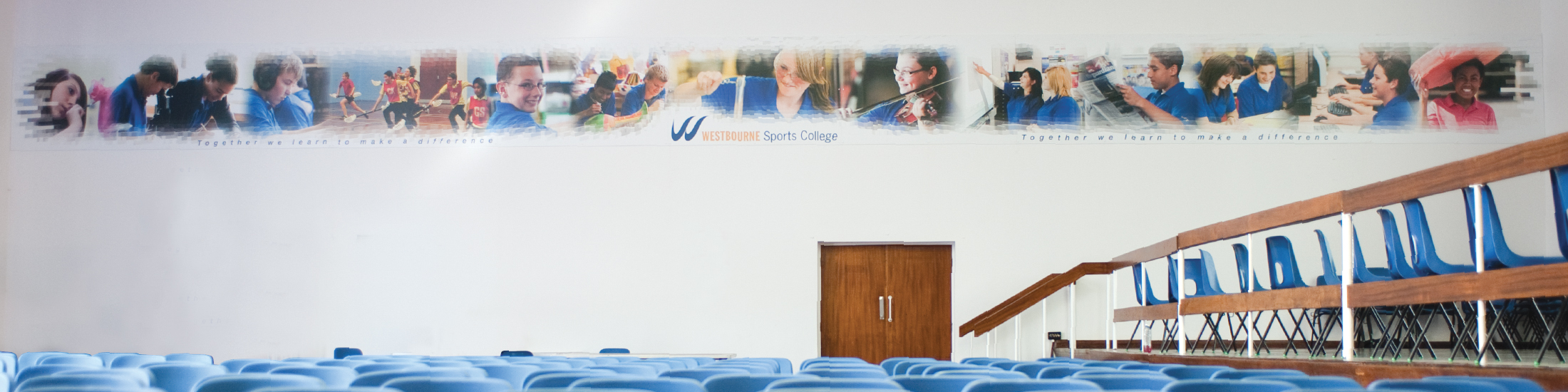 Vancols panoramic wall art in school hall